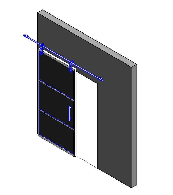 Puerta corredera en autocad descargar cad kb for Puertas corredizas revit