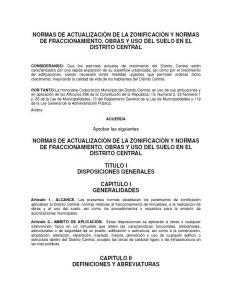 Regulation of Tegucigalpa; Honduras .