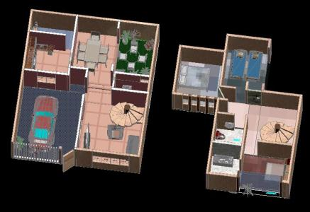 House bedroom 3D .