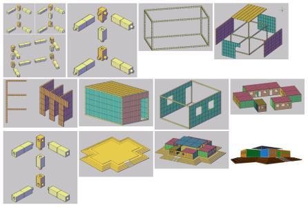 Campamento modular - 3D.