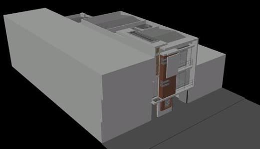 THREE STORY DETACHED HOUSE 3D Modeling