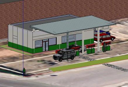 Gas Stations in 3d 3d