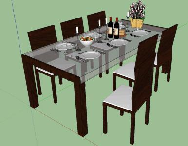 DINING ROOM MADE IN 3D