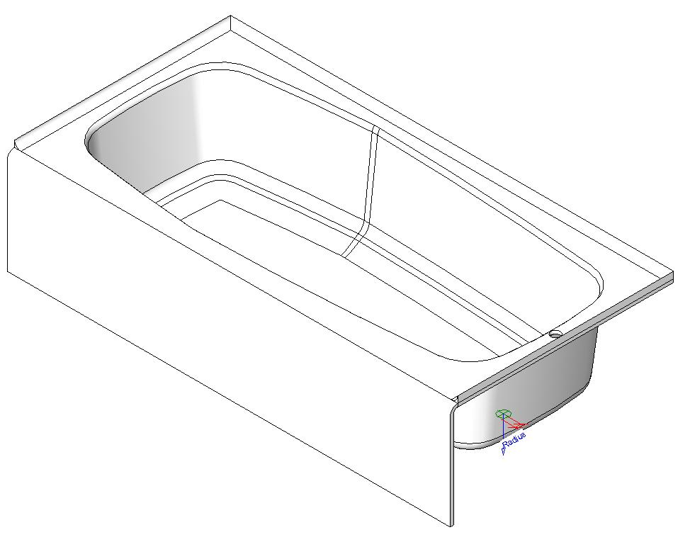 bathtub in autocad | cad download (225.9 kb) | bibliocad