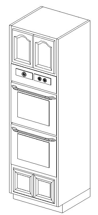 Wardrobe Tower with 2 ovens