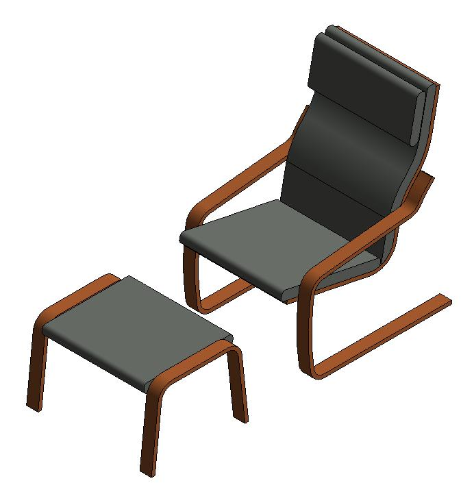 Exceptionnel Armchair With Footrest