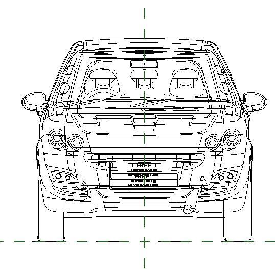 carautomobile - 2d - smart forfour