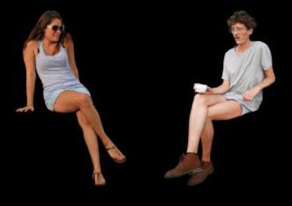 Personas sentadas