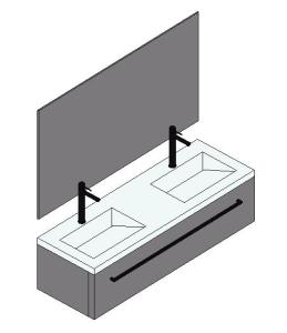 3d Double Sink In Rfa Cad Download 354 8 Kb Bibliocad