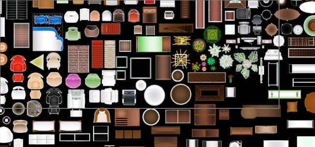 Furniture Colored Blocks In Autocad Download Cad Free 2