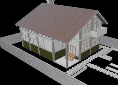 Country cottage 3D