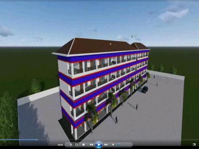 ANIMATION OF RENEWAL OF SCHOOL BUILDING