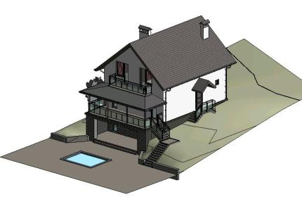 Small house (revit 3d) in RVT | CAD download (27 22 MB