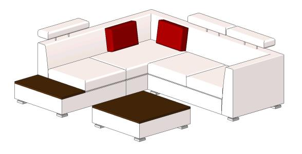 3d corner sofa in RFA | CAD download (407 24 KB) | Bibliocad