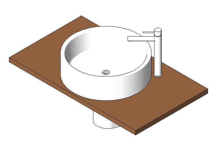 Modern cylindrical sink