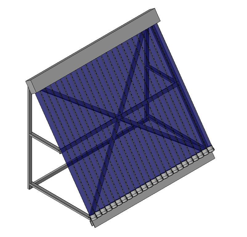 Panel Solar Tubos En Autocad Descargar Cad 307 98 Kb
