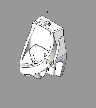 Urinal with cistern button