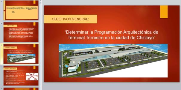 Architectural Programming to Terrestrial terminal of Chiclayo