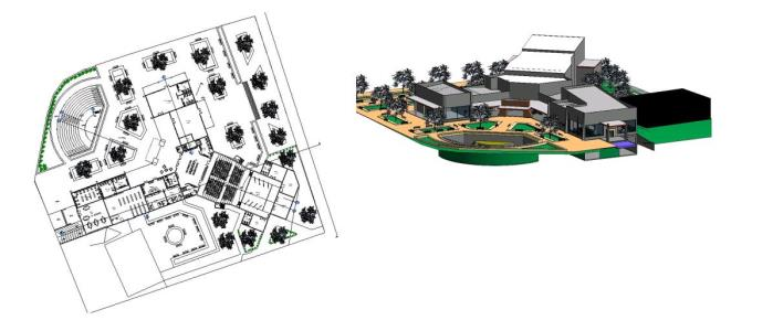 2D and 3D Cultural Center Project