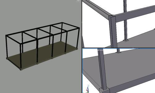 Columnas y vigas H - I - 3D
