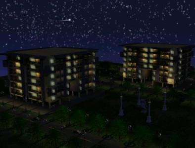 Departments in 3d - Night lighting