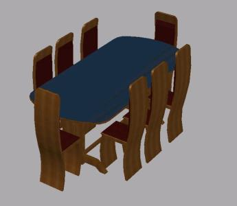 3D living table