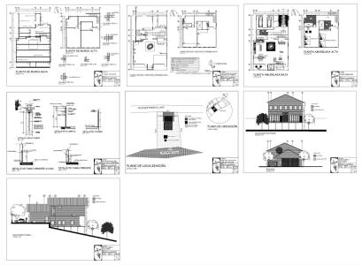 Construction plans - wooden house