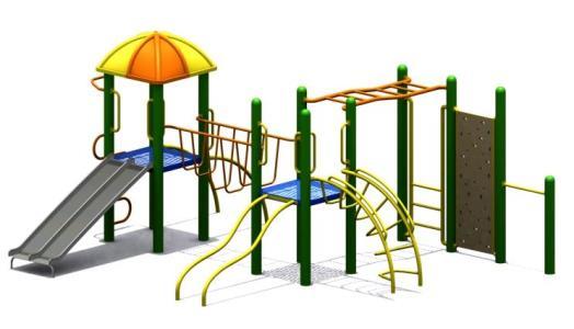 Parque metalico 3D