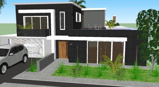 Casa moderna minimalista en skp descargar cad mb for Casa moderna sketchup download