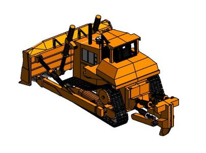 Caterpillar track loader 3d