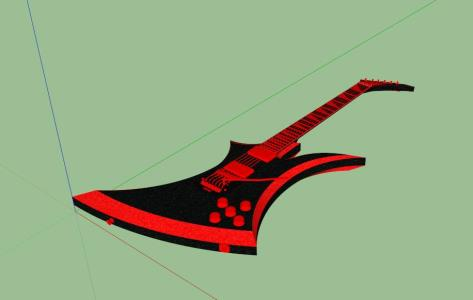 GUITARRA ELECTRICA 3D