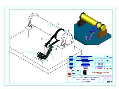 Sistema de transmision de cadena y fajas