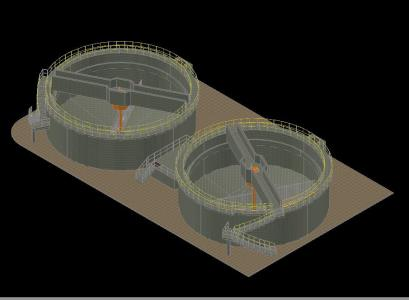 Thickener sludge - sewage treatment plant