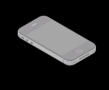Modelo de Iphone 4s 3D