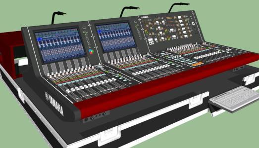 3D Kit Yamaha PM10 - console - mixer