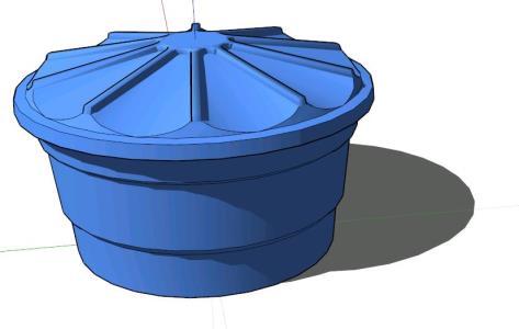 Tanque de agua pvc