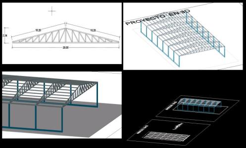 COVER WITH 3D STRUCTURE trusses