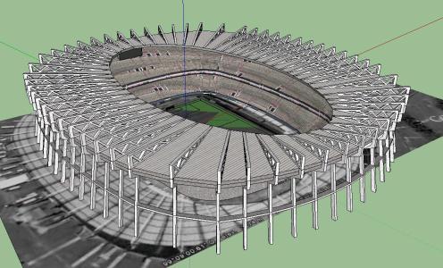 Aztec Stadium In Skp Cad Download 1 48 Mb Bibliocad