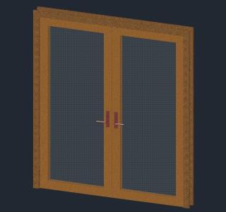 3d double door