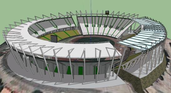 Estadio Mario Alberto Kempes 3D