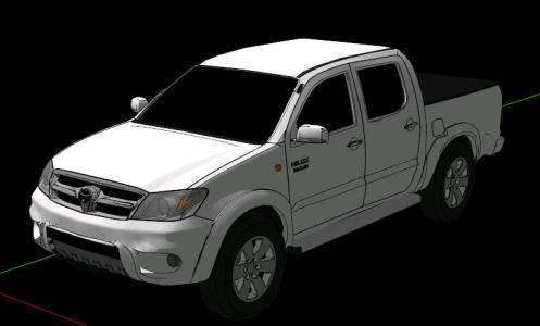 CAMIONETA - HILUX - 3D MODERN