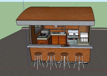 Fast food kiosk in SKP | CAD download (2 45 MB) | Bibliocad