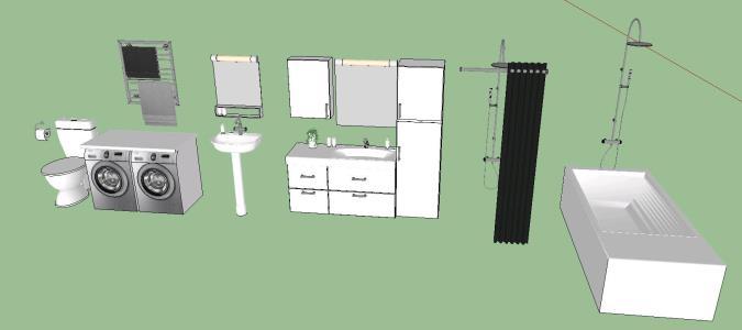 Bathroom furnishings - Bibliocad