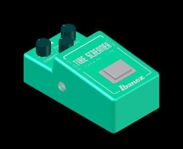 Overdrive Pedal 808 - 3D