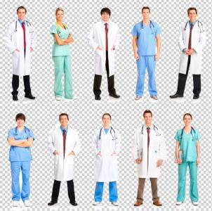 Photo montage of photos of people of medical profession