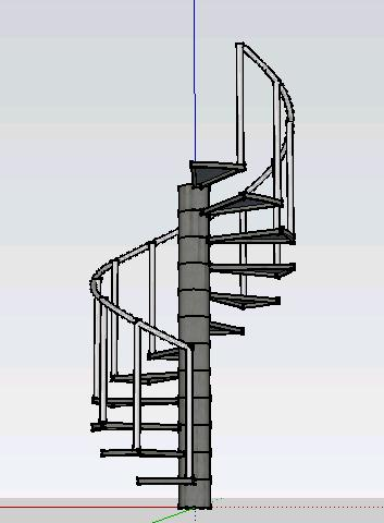 3d spiral staircase