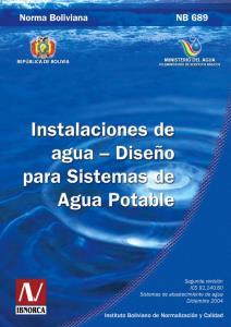 Norma de agua potable - Bolivia