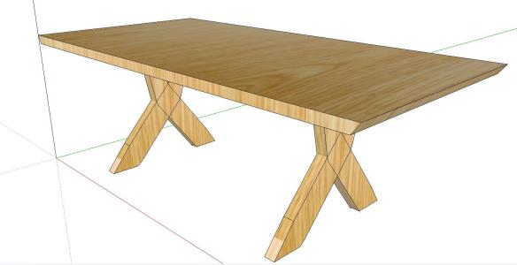 TABLE 3D WOOD