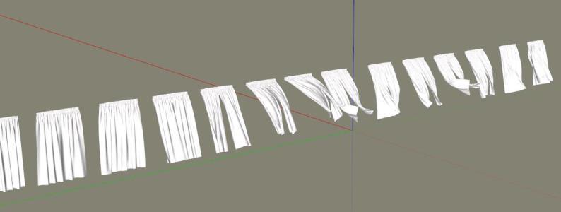 Curtains 3D Sketchup