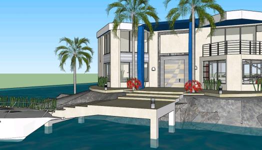 Housing isala Caribbean Sea 3D